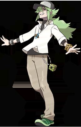 Entrendador N Pokemon Blanco y Negro