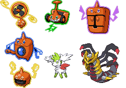 Formas de Shaymin y Rotom en Pokémon Platino