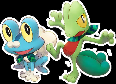 Treecko y Froakie