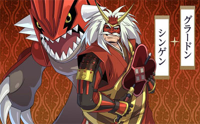 Groudon y Shingen Pokemon Conquest