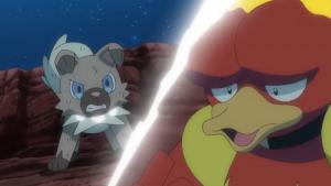 TV Pokémon Rockruff contra Magmar