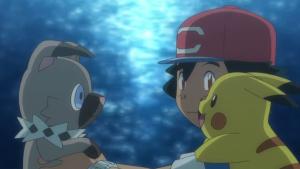 TV Pokémon Ash Rockruff y Pikachu