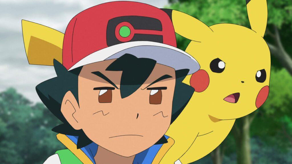 Ash y Pikachu observan atentamente