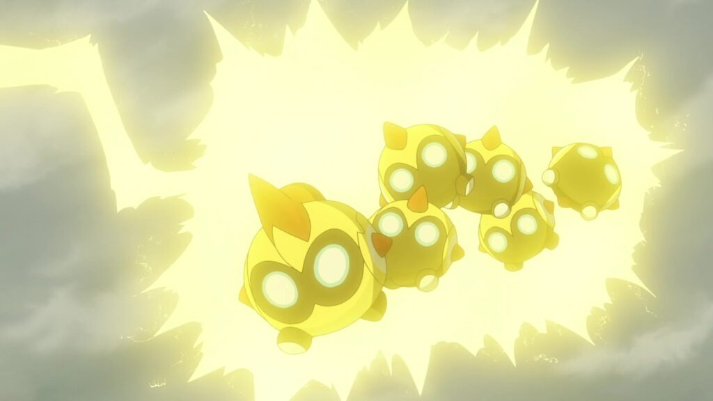 Pikachu usa Rayo contra Falinks