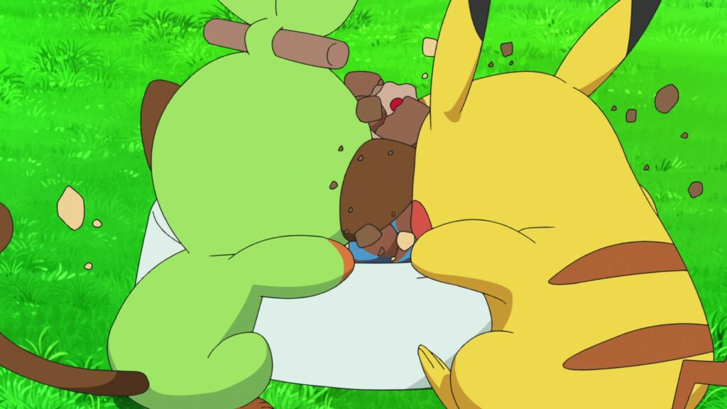 Grookey y Pikachu