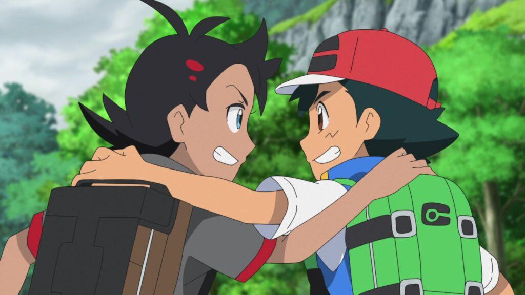 Episodio 73 Viajes Pokémon Ash y Goh amigos en Galar