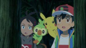 Episodio 75 Viajes Pokémon Ash y Goh con Pikachu y Grookey