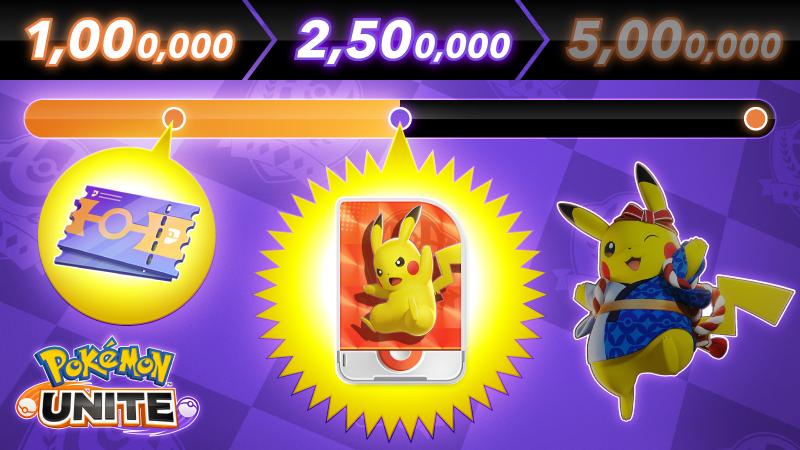 Pokémon UNITE: Blastoise pre-registro móviles Holoatuendo de Pikachu Matsuri