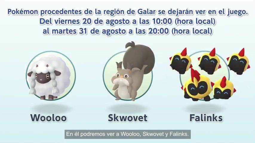 Pokémon Presents Woolo Skwovet y Falinks