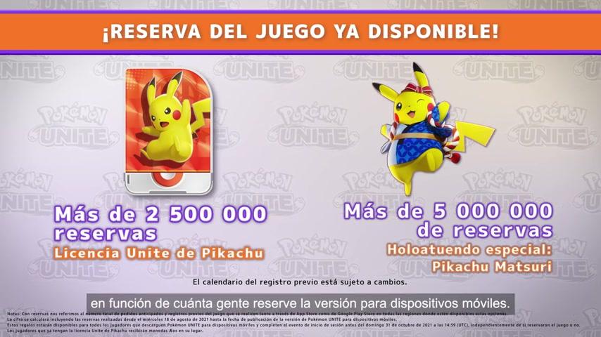 Pokémon Presents Licencia UNITE de Pikachu y Pikachu Matsuri
