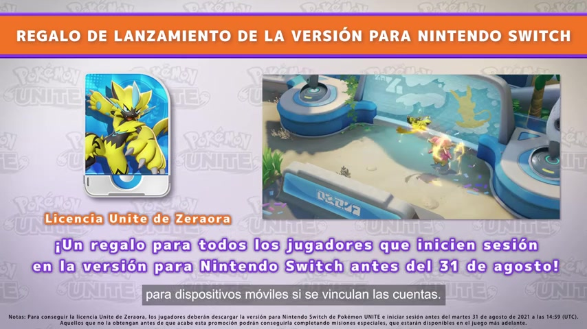 Pokémon Presents Licencia UNITE de Zeraora