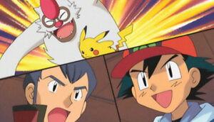 Ash y Pikachu contra Norman y Vigoroth