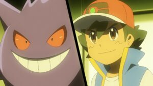 Episodio 77 Viajes Pokémon Gengar y Ash