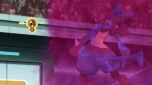 Episodio 77 Viajes Pokémon Lucario sufre Infortunio de Rotom