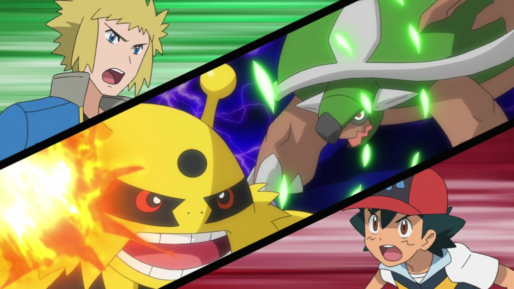 Episodio 77 Viajes Pokémon Ash Lectro Torterra Electivire