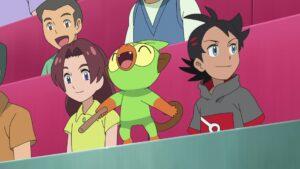 Episodio 77 Viajes Pokémon Goh y Grookey en el público