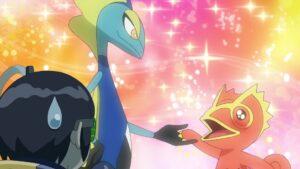 Episodio 78 Viajes Pokémon la Kecleon de Yabashi se enamora del admirado Inteleon