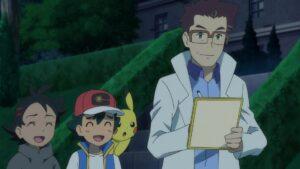 Episodio 78 Viajes Pokémon Cerezo le firma un autógrafo a Yabashi