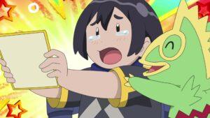 Episodio 78 Viajes Pokémon Yabashi consigue el autógrafo de Cerezo