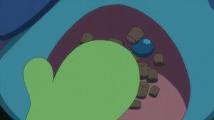 Episodio 78 Viajes Pokémon Drizzile comiendo