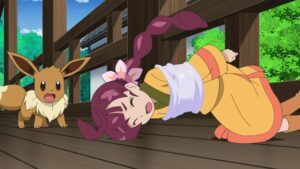 Episodio 79 Viajes Pokémon Haruhi y Eevee