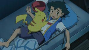 Episodio 78 Viajes Pokémon Pikachu oye ruidos y despierta a Ash