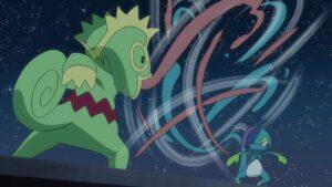 Episodio 78 Viajes Pokémon Kecleon contra Drizzile