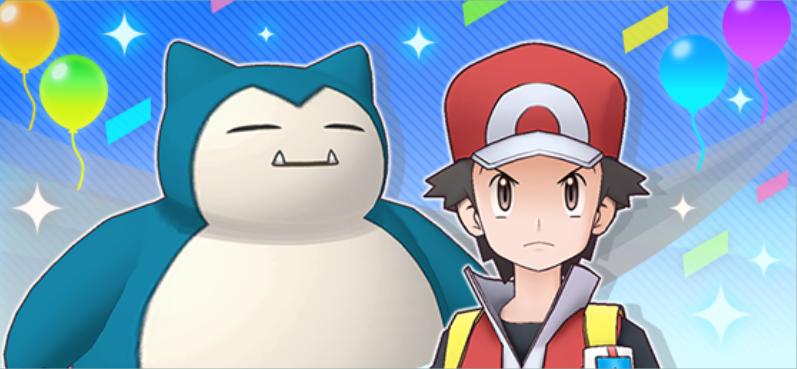 ¡Rojo y Snorlax en Pokémon Masters EX!