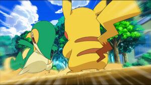 TV Pokémon Snivy de Trip contra Pikachu de Ash